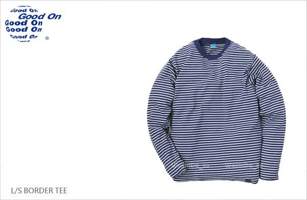 WaShiDa【GOLS-9012】Good On 日本品牌 L/S BORDER TEE 條紋 T恤 - 現貨