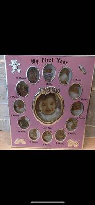 寶寶成長相框 拆開未使用 12個月相框
