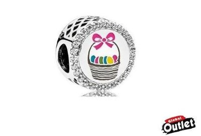 【全球購.COM】PANDORA 潘朵拉 鑲鑽新款蝴蝶結餅乾籃串珠 925純銀 美國正品代購