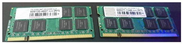 創見DDR2-667 SO-DIMM 1G 終身保固 2支=2G