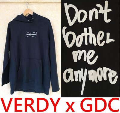 BLACK極新VERDY x WASTED YOUTH放蕩不羈少年DON'T BOTHER ME ANYMORE連帽T