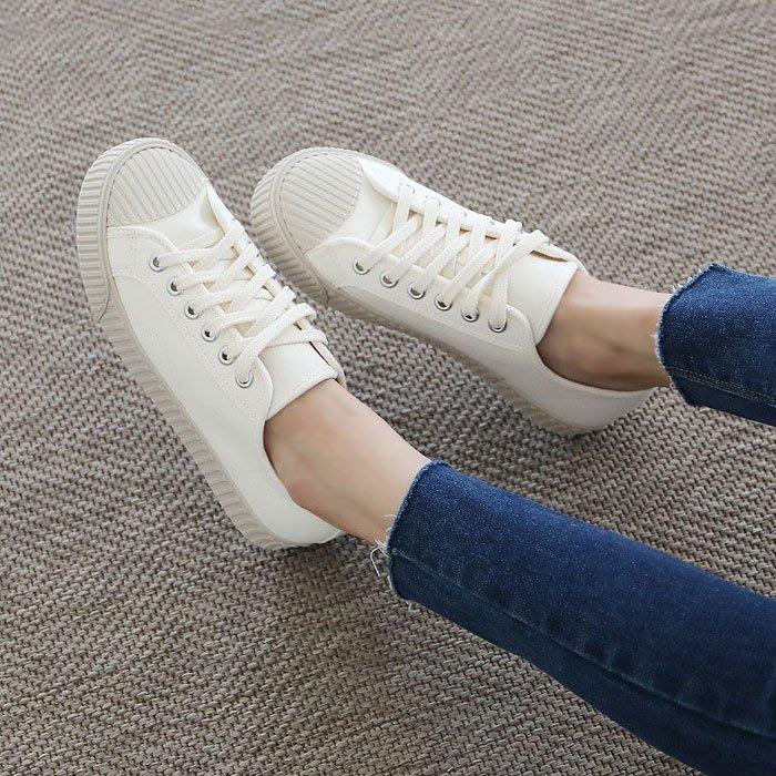 韓國連線 正韓製造 新款秋冬帆布鞋 餅乾鞋 防滑鞋底 懶人鞋【180822】♥tutti.moda♥