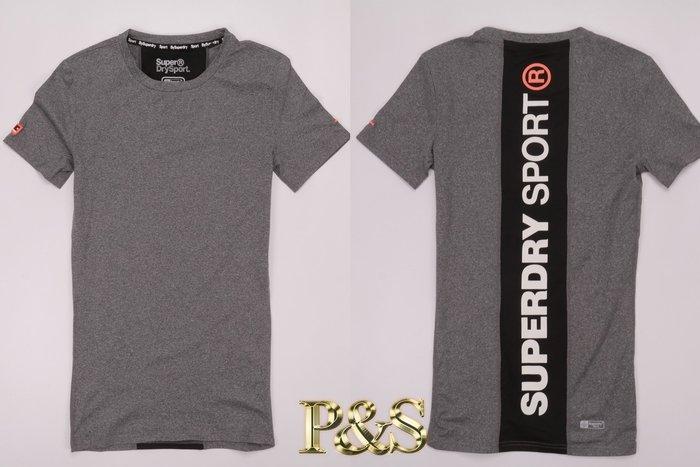 [PS]全新正品 Superdry 極度乾燥 GYM 訓練 慢跑 運動 健身 速乾 排汗 短T UA 背後有字 灰色