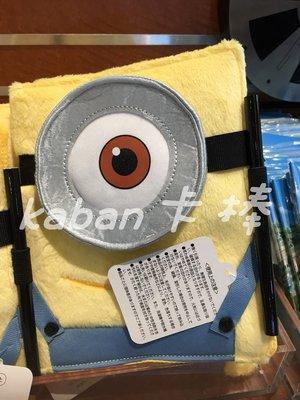 現貨 日本環球影城 USJ MINION 小小兵 絨毛造型包裝 筆記本 記事本 Kaban卡棒代購達人