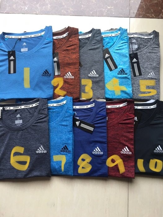 ADIDAS排汗合身運動衫-男款 短袖(圓領)10色