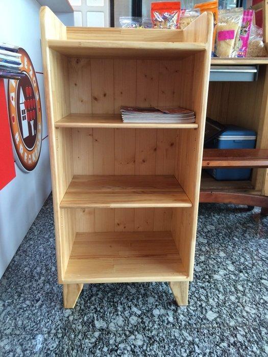 【森林原木手工家具】原木四層書櫃、鞋櫃