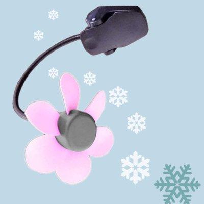 Lohogo 花朵USB夾式風扇 迷你小風扇 彎曲迷你扇 軟葉風扇 蛇管風扇 涼扇 電池U