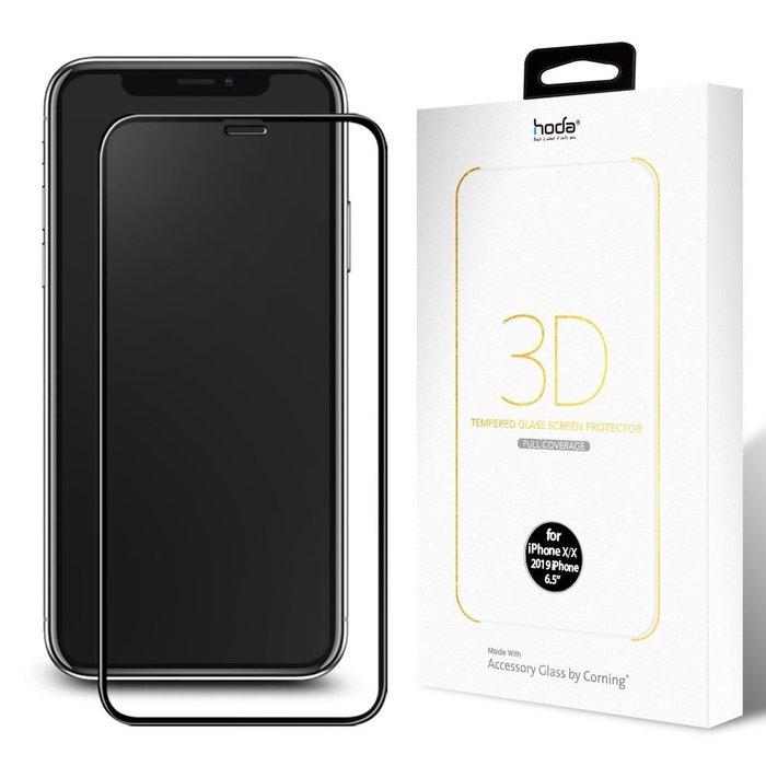 贈蘋果快充線 hoda原廠 公司貨 iPhone 11/Pro/Max 美國康寧 原廠授權 3D隱形全膠滿版 玻璃保護貼