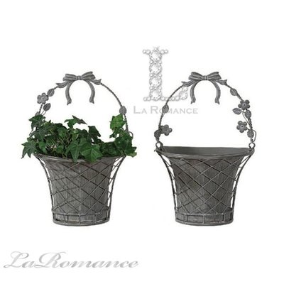 【Creative Home】 Cottage Chic 法式田園系列金屬壁掛造型花器 (一對) / 花盆 / 庭院擺飾