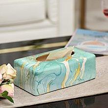 〖洋碼頭〗紙巾盒美式復古陶瓷客廳茶几擺件餐桌紙巾收納抽紙盒紙巾抽 sme209