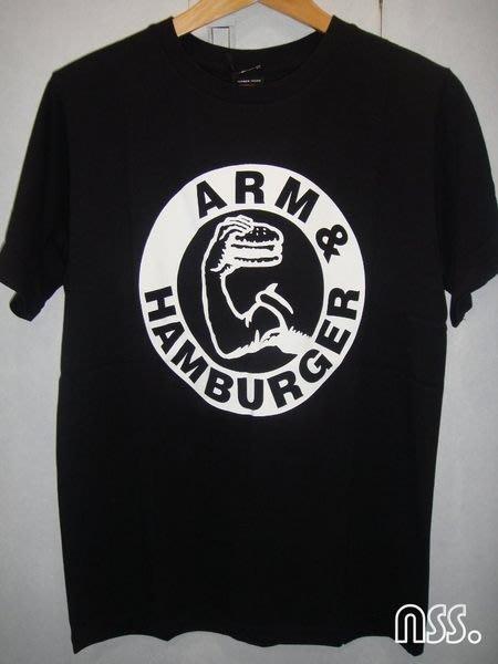 特價「NSS』NUMBER (N)INE NINE N9 ARM&HAMBURGER 漢堡 黑T 2 M