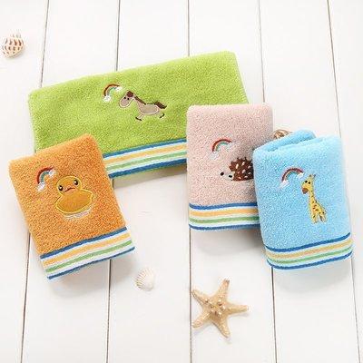 兒童毛巾純棉卡通長方形柔軟吸水不掉毛寶寶洗臉潔面巾洗臉巾家用
