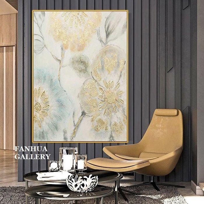 C - R - A - Z - Y - T - O - W - N 純手繪油畫立體筆觸空谷幽蘭抽象花卉掛畫手繪油畫裝飾畫立體筆觸油畫原創抽象巨幅大尺寸裝飾畫