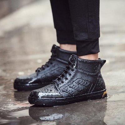 哆啦本鋪 雨鞋男低筒防滑水鞋輕便平底膠鞋雨靴鞋正韓短筒大人釣魚鞋男 D655
