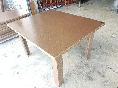 彰化二手貨中心(原線東路二手貨)--  餐飲首挑  胡桃木餐桌 4人座餐桌 洽談桌