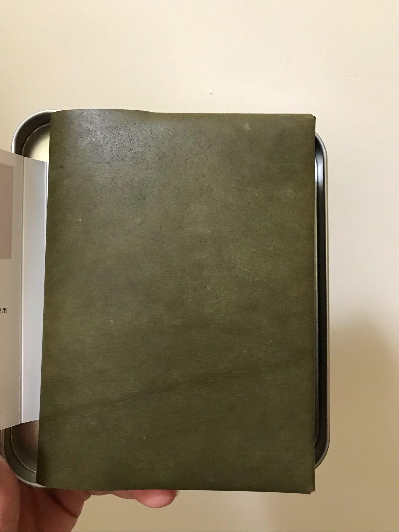Home hotel x Pleasant 麂皮綠牛皮護照夾