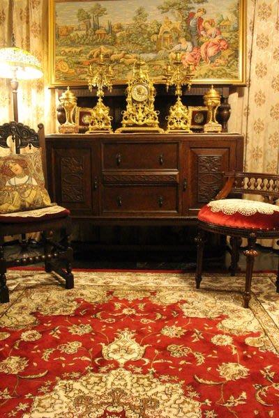 【家與收藏】特價稀有珍藏歐洲百年古董法國古堡莊園手工刻花老邊櫃/老斗櫃/置物櫃4
