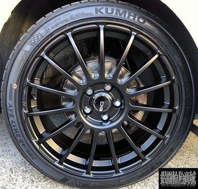 全新 DG F15 17吋鋁圈 平光黑 4孔100 4孔114.3 5孔100 5孔114.3 VW polo 實裝圖