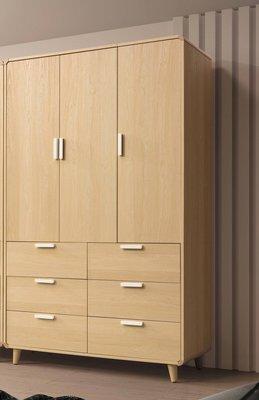 【生活家傢俱】SY-20-3※喬迪4尺衣櫃【台中15900送到家】開門式衣櫥 低甲醛木心板 原木色 北歐風 台灣製造