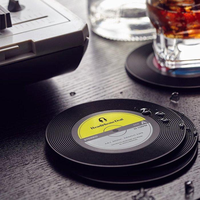 唱片造型矽膠隔熱杯墊/杯蓋(一入)(pioneer,serato,technics)