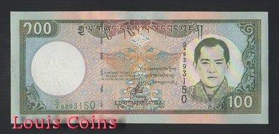 【Louis Coins】B721-BHUTAN--2000不丹紙幣100 Ngultrum