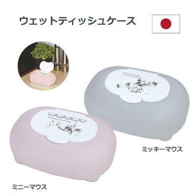 ◎Life Sense◎【錦化成 Corotto】Disney 迪士尼日本製圓形濕紙巾收納盒 米奇 米妮 小物收納盒