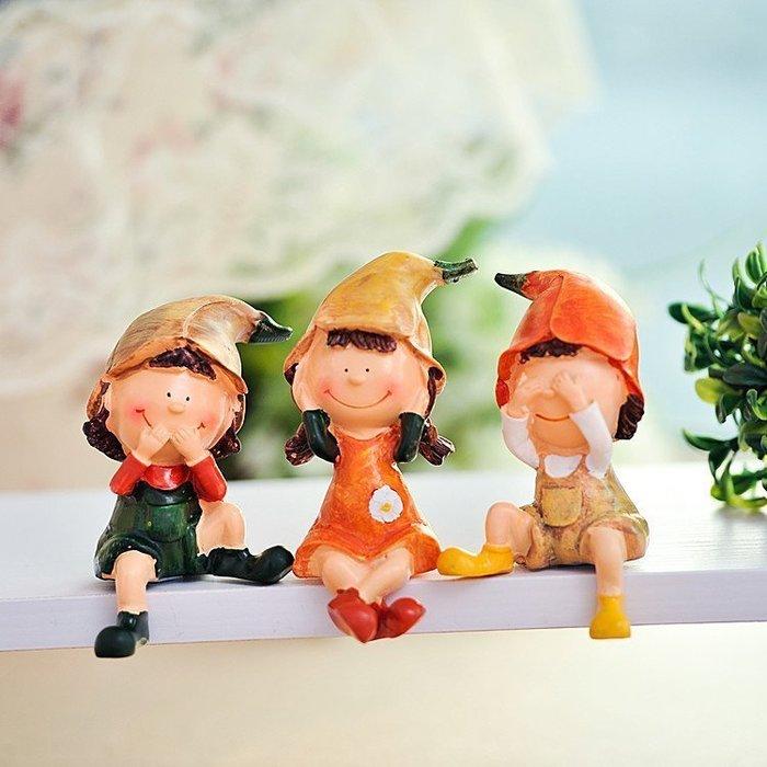 INPHIC-田園樹脂娃娃 簡約時尚 家居裝飾品工藝品擺件 三不小人