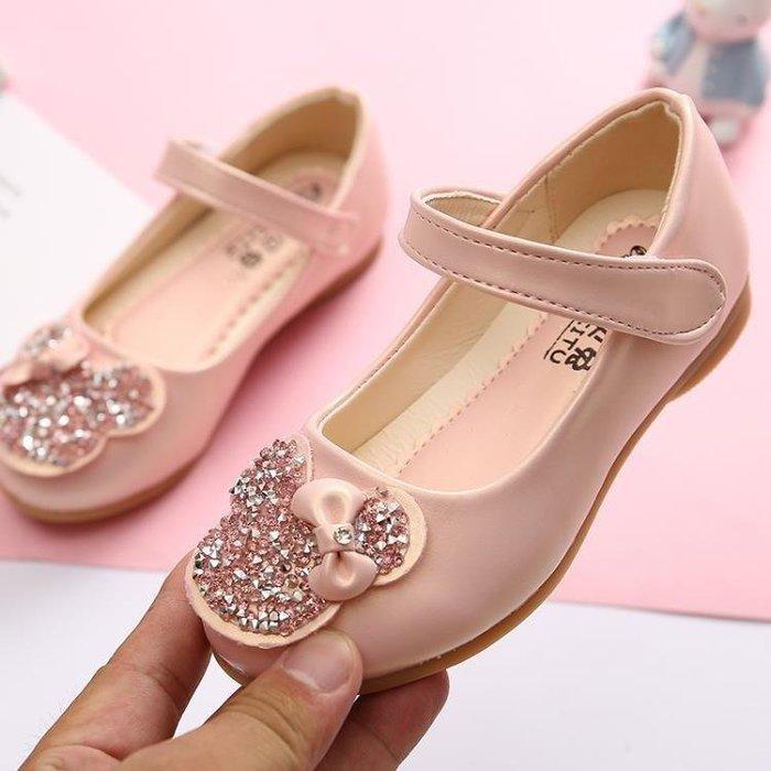 BELOCO 2019新款春季兒童公主鞋小皮鞋水鉆卡通小女孩舞蹈豆豆鞋女童單鞋BE655