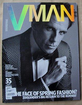 歐美男性流行時尚雜誌 VMAN 春夏號 2016 : Ben Stiller