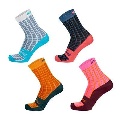 【三鐵共購】【SANTINI】「方格」高筒襪-4色