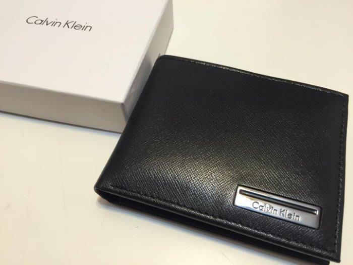 【豬豬老闆】Calvin Klein CK 皮夾 短夾【現貨正品】黑色 含原廠盒