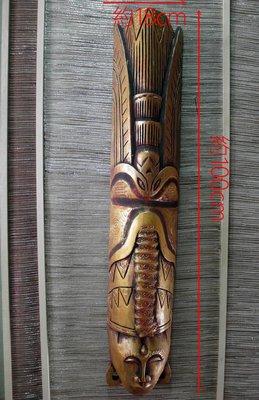 【自然屋精品】 印尼蠟染人像面具-H款 Batik Mask木雕面具 手工  南洋風 峇里島風 餐廳 客廳 商業空間