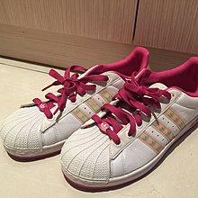 Adidas 雷射 粉紅色 邊 3葉 8.5號 運動鞋