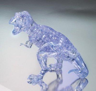 日本進口拼圖專賣店_49片 3D水晶透明 侏羅紀公園 暴龍 恐龍 50171
