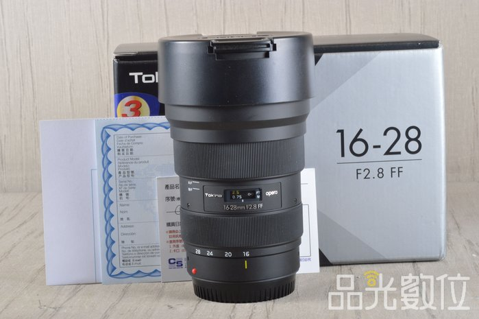 【品光數位】Tokina 16-28mm F2.8 FF For CANON 公司貨 #100986