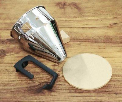Mazzer Super Jolly  磨豆機 改裝直出 不鏽鋼出粉漏斗+把手支架+背板 套裝 去靜電