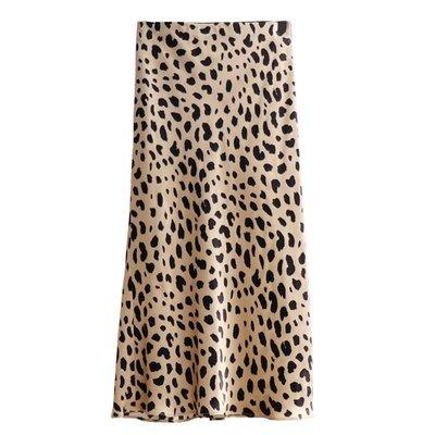 PapaDarling 20fw 精品 重磅真絲豹紋魚尾裙 豹點 動物紋