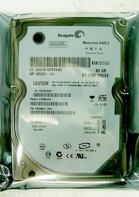保固1年【小劉硬碟批發】全新 SEAGATE  2.5吋80G 筆記型電腦硬碟/筆電硬碟,8M,5400轉,IDE界面