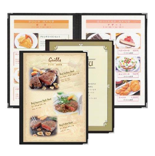 【無敵餐具】日本製透明窗菜單本/MENU本(A4-4P) 品質優良餐廳專用菜單本透明價目本 量多可來電洽詢【E0068】