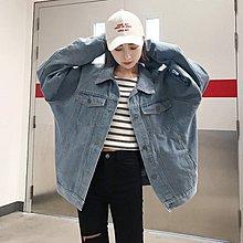 秋裝女韓版學院風寬松蝙蝠袖牛仔外套新款休閑學生工裝夾克潮