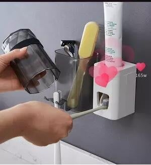 擠牙膏器全自動抖音神器套裝牙刷架置物架免打孔吸壁式懶人擠壓器