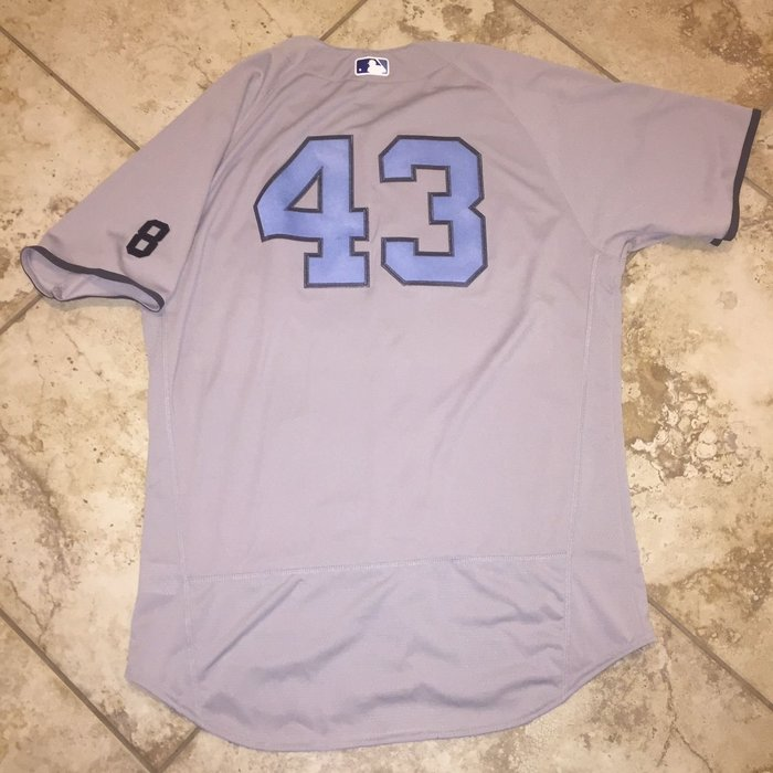 MLB 2016 New York Yankees #43 Fathers Day Game Issued Jersey