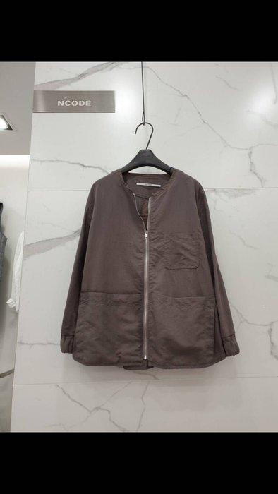 蘋果樹 韓國服飾~ncode大口袋七分袖麻外套