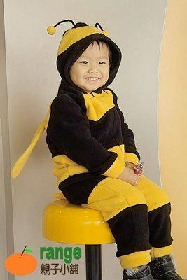 聖誕節服裝【orange親子小舖】小蜜蜂造形服裝(冬)連身裝/cosplay/表演道具服80-130cm台灣製