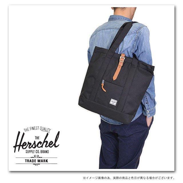 【現貨】全新正品 Herschel Supply Market Tote Bag 筆電夾層 帆布 肩背 側背 托特包
