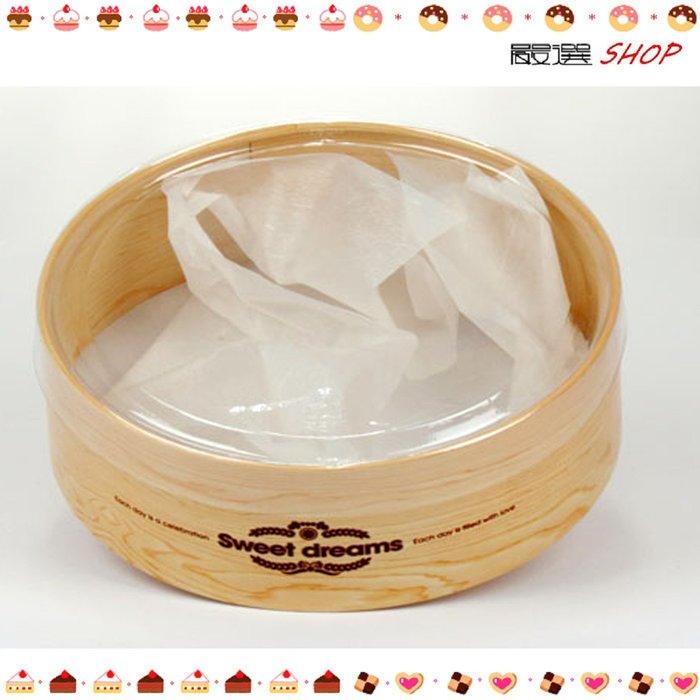 【嚴選SHOP】木紋透明開窗 附棉紙18CM 乳酪蛋糕盒 起司蛋糕 烘焙紙盒 外帶盒  提拉米蘇 奶酪布丁盒【C005】