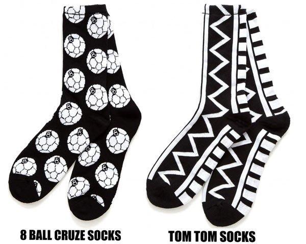 【 超搶手 】全新正品 2014  最新 STUSSY NTRNTNL 8 BALL CRUZE TOM TOM SOCKS 足球 襪子 黑色