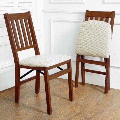 美兒小舖COSTCO好市多線上代購~Stakmore 簡約實木摺疊椅/折疊椅/餐椅(1組2入)