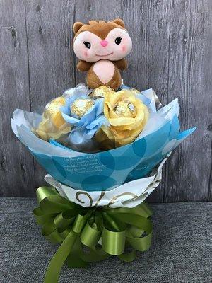 娃娃屋樂園~🌻可愛小狐狸金莎花束 每束650元/歡迎團購/畢業花束