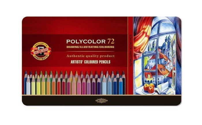 【Artshop美術用品】捷克 KOH-I-NOOR 藝術家油性色鉛筆 (72色) 鐵盒
